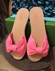 HOT!!!***NWT Kate Spade Indi Pink with Bow Slide Sandal Slip On Size 9 Neon Pink