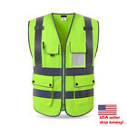 Best quality Hi-Vis Vest Working  Outdoor Reflective Safety Clothing jacket