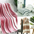 Soft Warm Microfiber Plush Fleece Blanket Fuzzy Couch Bed Home Twin Full Queen image