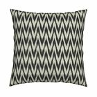 Zig Zag Arrows Ikat Black Throw Pillow Cover w Optional Insert by Roostery