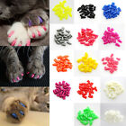 HK- 20Pcs Silicone Pet Dog Cat Kitten Paw Claw Control Sheath Nail Caps Covers D