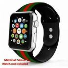 Apple Watch Band Gucci Black Iwatch Silicone 42mm Series 2 3 4 Accessories Leat