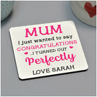 Personalised Funny Birthday Christmas Drinks Coaster Gifts for Mum Mummy Nanny