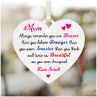 Personalised MUM MUMMY NANNY NANNA Christmas Heart Sign Plaque Gifts for Her