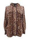Sutton Studio Womens Leopard Print Anorak Jacket with Hood (S)