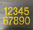"""2"""" Number - Yellow Numbers - Block Style - Iron on Applique/Embroidered Patch"""