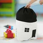 Large Capacity Cute House Storage Bag Children Kids Baby Pure Cotton Canvas Toys