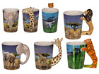 Wild Life Ceramic Mug with animal body handle - Coffee Tea Novelty Gift
