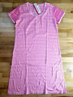 NWT HANNA ANDERSSON S/S ROSE PINK STRIPED NIGHTGOWN NIGHTIE M 8 10 $78 NEW