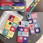 For iPhone Xs Max 6s 7 8 Plus Cartoon Grid Rabbit Cat PC Shockproof Case Cover