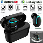 Bluetooth 5.0 Wireless Bluetooth Headset Sport Headphones and Smartphone Charger