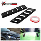 2Pcs Bonnet Hood Vent Trim Louver Air Flow Intake For Honda Universal Solid ABS $13.86 USD on eBay