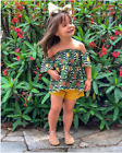 US Toddler Baby Girl Pineapple Printed T-Shirts Shorts Pants Outfits Clothes