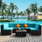 Outdoor Wicker Rattan Sectional Patio Furniture Sofa Set 7pc Brown With Cushion