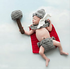 Newborn Baby Girl Boy Crochet Knit Costume Photo Photography Prop Mario Thor