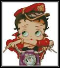 Betty Boop on Purple Bike - Cross Stitch Chart/Pattern/Design/XStitch $11.0 AUD on eBay