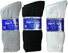 Diabetic Crew Socks 1,3,6 Pairs Sizes: 9-11, 10-13, 13-15