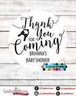 Thank you for coming! Baby Shower Personalized Party Favor Round Stickers