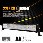 22Inch 2688W Curved LED Work Light Bar Flood Spot Offroad 4WD Truck Driving Lamp