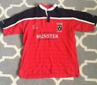 Munster European Champions Red Rugy Shirt Live For Rugby Size 2XL XXL