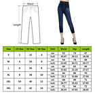 Summer Women High Waist Print Rose Workout Pants Slim Jeans Cropped Trousers New