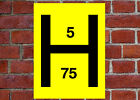 Fire Hydrant Marker sign or self adhesive vinyl sticker FEQ12