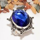 Delighting Madgascar Blue Sapphire Gemstone 925 Sterling Silver Ring Size 6.5