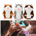 Adorable Mimicry Pet Speak Talking Record Hamster Mouse Plush Kids Toy Gift Gray