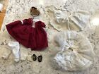 "Outfit for Vintage Marme Doll 8"" Madame Alexander Hat Dress Shoes Petticoat Bloo"