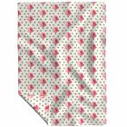 Throw Blanket Polka Dots Gold Glitter Rose Peony Pink A418 48 x 70in image
