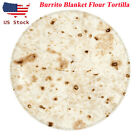 USA Burrito Blanket Flour Tortilla Round Thick Flannel Fleece Blanket Adult kid image
