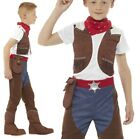 Childrens Boys Deluxe Cowboy Fancy Dress Costume Childs Cow Boy by Smiffys