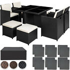 Rattan Aluminium Garden Furniture Cube Set Dining Wicker 8 Seater Table