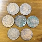 7 Old Antique Intian Head Penny Cent Copper Coins US Mostly 1800's Cull Lot