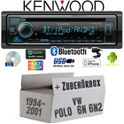 Kenwood Radio für VW Polo 6N + 6N2 Bluetooth iPhone Android CD/MP3/USB Einbauset