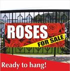 ROSES FOR SALE Banner Vinyl / Mesh Banner Sign Rose Shop Flower Store Florist