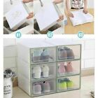 Внешний вид - Foldable Clear Shoe Boxes Wholesale Storage Organizer Stackable Tidy Box Plastic