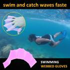 Silicone Red Swimming Flippers Hand Swim Web glove size S/M/L Fins Paddle Dive