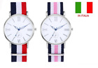 Orologio uomo donna da polso  watch unisex nylon multicolore wellington