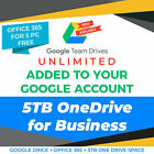 Google Drive Unlimited added to your Account  OneDrive 5TB  Office 365 Pro Plu