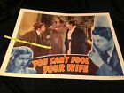 Vintage 1940 Lucille Ball YOU CAN'T FOOL YOUR WIFE Movie Poster LOBBY CARD
