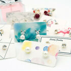 100Pcs Earrings pack ear stud card jewelry display hang tag label print 3x5cm ..