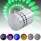 Spiral LED Wall Sconce Hall Porch Walkway bedroom Lights Decor Fixture Lamps GA