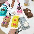 Case Cover Cute Cartoon Bear Wallet Phone High Quality For Iphone Free Shipping