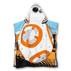Disney Star Wars Ep7 BB8 Childs Cotton Hooded Poncho White Pool Bath New $13.5 USD on eBay