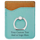 Custom Personalized Leatherette Phone Wallet with Silver Ring