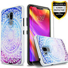 For LG G7 ThinQ Case, Shockproof Cover+Tempered Glass Protector