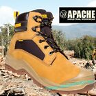 Apache Arizona S3 Waterproof Safety Boots Composite Metal Free Work Wheat Boots