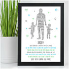 PERSONALISED Daddy Dad Grandad Christmas Gifts from Daughter Son - 1, 2, 3 Kids