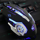 Ergonomic Pro Wired LED Light 4000DPI Optical Usb Gamer Gaming Mouse Mice